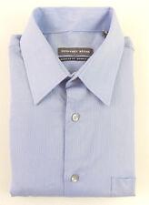 Geoffrey Beene Blue 15 X 32/33 Regular Fit Casual Men Dress Shirt A01
