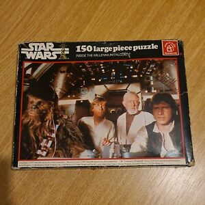 Vintage Star Wars Puzzle 150 Piece Inside The Millennium Falcon Waddingtons 1977