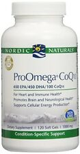 NEW Nordic Naturals ProOmega CoQ10 120 soft gels 1000 mg