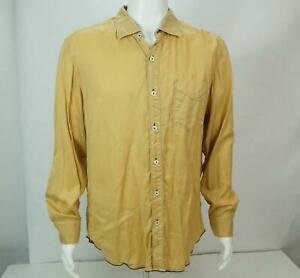 Tommy Bahama Jeans Island Crafted Men's Long Sleeves Button Up Shirt Brown L