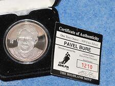Pavel Bure 1 Troy Ounce .999 fine Silver Sport Round Highland Mint B7825