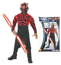 Star Wars Darth Maul Complete Costume Children Size Large 12-14 Halloween Outfit