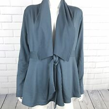PL Movement Womens Jacket Cardigen Size Medium Blue Front Tie Long Sleeve Casual