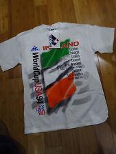 USA World Cup Vintage 1994 IRELAND TEAM mens T-shirt M APEX ONE NWT WHITE IRISH