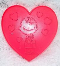 VINTAGE CHARLIE BROWN PEANUTS VALENTINES DAY LARGE COOKIE CUTTER