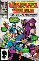 Marvel Saga Comic 19 Official History of the Marvel Universe 1987 Copper Age