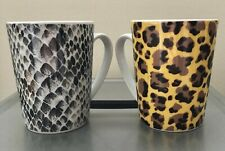 Set of 2 Fun Animal Print Design Coffee Mugs by Paper Products Design