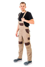 Bib and Brace Overalls Heavy Duty Work Trousers Dungaress Knee Pad Multi Pockets