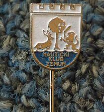 Nautical club Zemun, antique pin, badge, Made in Serbia, Yugoslavia !
