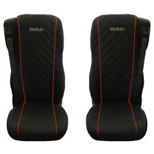 DAF 106 XF TRUCK SEAT COVERS WITH RED PIPING