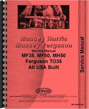 Massey Ferguson 35 50 Tractor Service Manual (MH-S-MF35,50+)