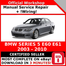 FACTORY WORKSHOP SERVICE REPAIR MANUAL BMW SERIES 5 E60 2003 - 2010 + WIRING