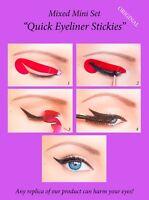32 pcs Quick Eyeliner Stickies Stencils Eye Makeup Tool MIXED SET ORIGINAL UK1