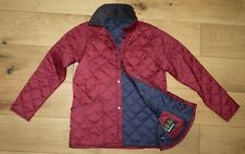 Barbour Liddesdale Quilted Jacket Dark Red Junior size XL