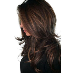 High Quality Straight Wavy Long Synthetic Hair Wigs with   for Women