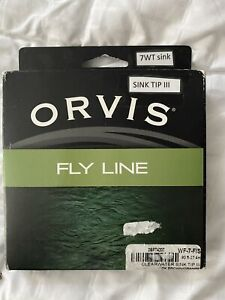 Orvis Clearwater sink tip III Type 3 fly line 7 Weight New In Box