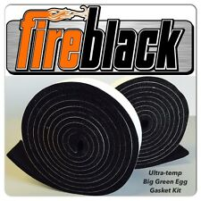 FireBlack® FB125 Self Stick BLACK High Temp Gasket Kit LARGE Big Green Egg - LG