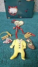 First Christmas Yellow Baby Hanger Ornament by Heather Goldminc for Blue Sky Cla