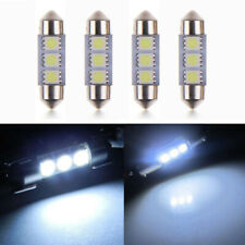 4pcs Car Lights Kit Set 36mm 3-LED Festoon 5050 SMD 6418 Error Free Interior