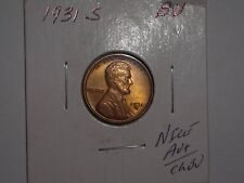 wheat penny 1931S LINCOLN CENT R/B AU+/CH BU 1931-S LOT #1 NICE R/B UNC LUSTER