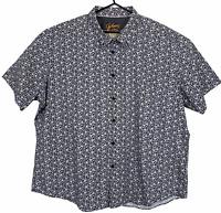 Johnny Bigg Mens Black/Pink Floral Short Sleeve Button Up Shirt Plus Size 5XL