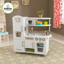Kidkraft White Vintage Kitchen, Kids Wooden Toy Play Kitchen