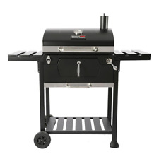 Royal Gourmet 23 in. Charcoal BBQ Grill in Black with 2-Side Table