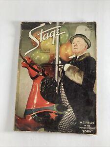VINTAGE 1936 STAGE MAGAZINE W.C. FIELDS NOEL COWARD VINCENT PRICE GEORGE CUKOR