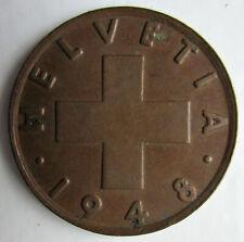 - 2 Rappen Jahrgang 1948 Münze aus der Schweiz +++