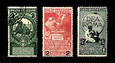 Italy stamps #126 - 128,complete set, mint & used, 1913