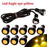 10x Yellow 9W LED Eagle Eye Car DRL Daytime Running Turn Signal Light 18MM Auto