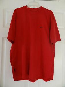 NIKE DRI FIT T-Shirt Short Sleeve Crew-Neck Logo Running - Men's Large