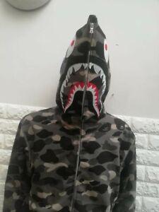 A BATHING APE Bape-Style Men's Hoodie Shark Camo Size S/M BNWT