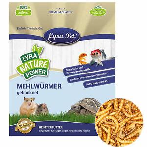 5 kg Mehlwürmer 5000 g getrocknet Fischfutter Reptilienfutter Proteine Lyra Pet®