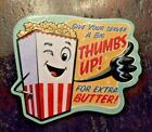 """Drive-In Movie Theater collectible magnet Extra Butter POPCORN souvenir 3"""""""