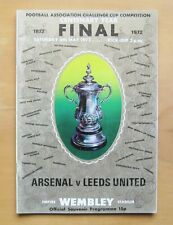 1972 FA Cup Final ARSENAL v LEEDS UNITED Excellent Condition Football Programme