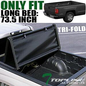 Topline For 2005-2015 Toyota Tacoma 6 Ft Bed Tri Fold Soft Vinyl Tonneau Cover