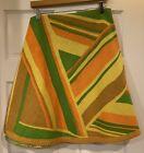 Vintage Bates Bedspreads Round Tablecloth Mod And Kitschy Orange