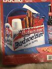 Vintage 1994 Bucilla Budweiser Caddy Plastic  Canvas Craft Kit 6143 King Of Beer