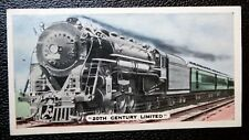 20TH CENTURY LIMITED   New York Central Railroad      Vintage Colour Card