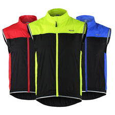 ARSUXEO Sleeveless Vest Windproof Gilet Bike Cycling Reflective High Visibility