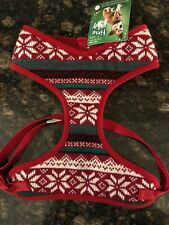 "Fair Isle Large Dog Harness HolidayTime For Joy Neck 16""-18"" Chest 18""-27"" New"