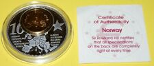 Norway 1 Coin(gilded)+Medal 40mm, 31g, Proof Like + Zertifikat