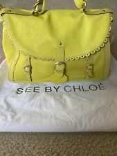 See by Chloe Monroe Crossbody Bag Shoulder Handbag Satchel Purse ( Citrus )