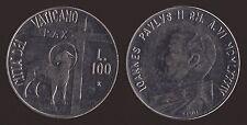 VATICANO 100 LIRE 1984 GIOVANNI PAOLO II - FDC/UNC FIOR DI CONIO