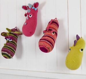Stylecraft Toys DK 9216 Crochet Pattern Wall Mount Dragon Dinosaur Heads