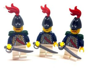 LEGO 3 x Pirate Imperial Guard Governor Minifigures with Swords