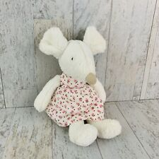 Jellycat Bashful Mouse White Pink Floral Dress Flowers Pink Nose Stuffed Animal