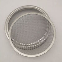"""Stainless Steel Sprouting Lid Mesh Cover for Mason Jars Grow Sprouts 3.3"""""""