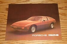 Original 1977 Porsche 924 Specification Sheet Sales Brochure 77
